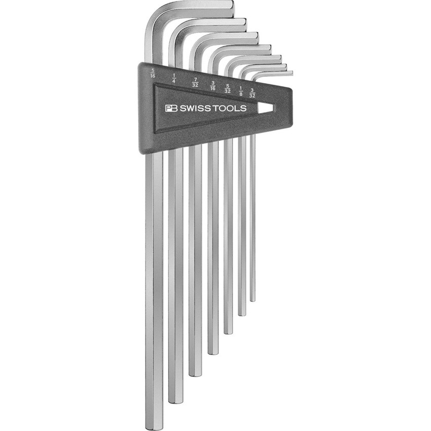 หกเหลี่ยมชุด PB Swiss Tools หัวตัด ยาว รุ่น PB 214 ZH (7 ตัว/ชุด) เบอร์ 3/32 - 5/16 นิ้ว