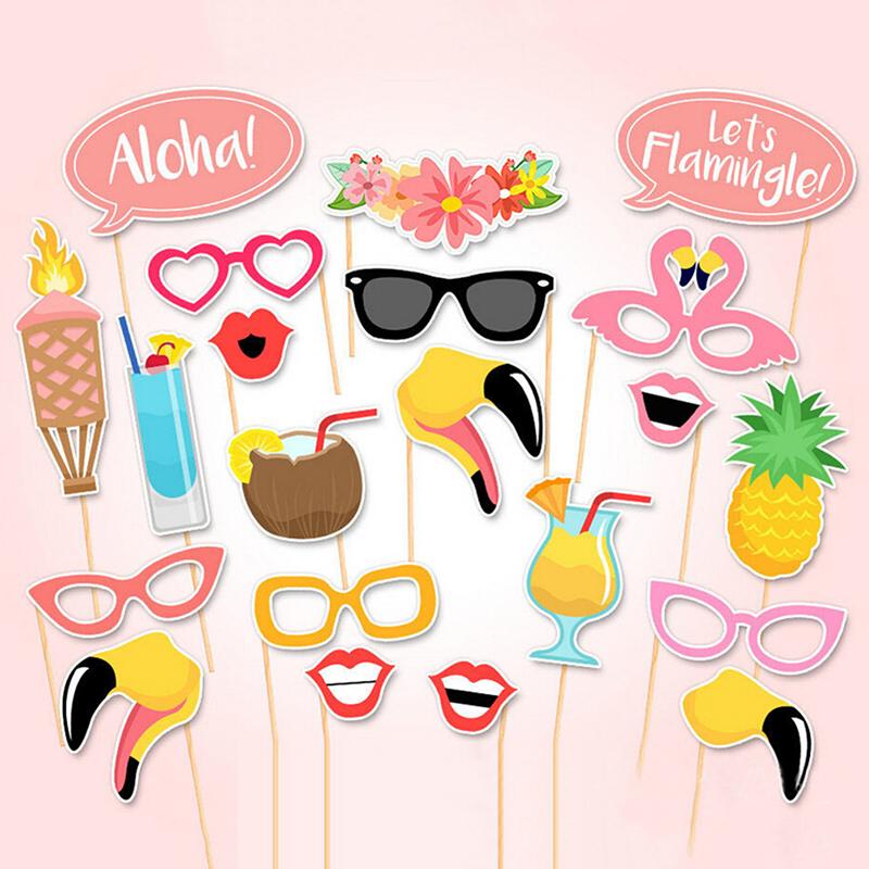พร็อพถ่ายรูป, ป้ายคำพูด, ป้ายพร็อพ, ป้ายพร็อพถือถ่ายรูป, พร็อพติดไม้ - Flamingo Summer Party