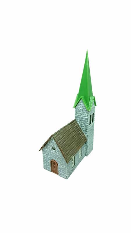 Faller Village Church - N Scale