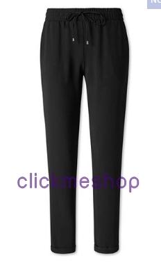 (ไซส์ 50 เอว 40-42 สะโพก 48 นิ้ว) กางเกงผ้าปลายขาจั๊มสีดำ ยี่ห้อ canda เอวยืดสม๊อคเอวมีกระเป๋าสองข้าง น่ารักอินเทรนด์ น่ารักคะใส่สบายมากๆๆ สำเนา