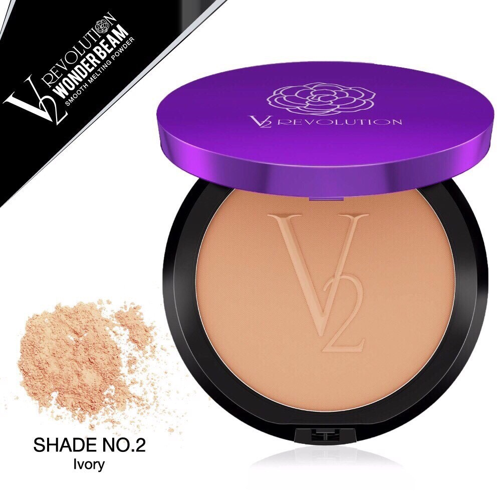 แป้ง V2 Wonder Beam Smooth Melting Powder SPF 25 PA++ (เบอร์ 02 สี Ivory )