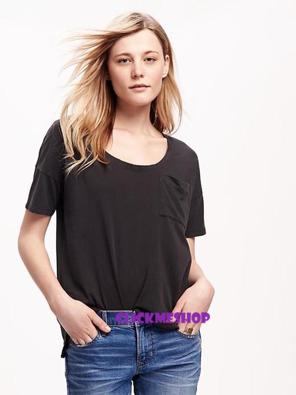 (ไซส์ XL หน้าอก 44-46 ยาว 27 นิ้ว)เสื้อยืดสีดำ ยี่ห้อ. oldnavy เนื้อผ้านิ่ม มีกระเป๋าที่อกทรงหลวม เนื้อผ้ายืดใส่สบายน่ารัก เนื้อผ้านิ่มๆใส่สบายๆคะ สำเนา