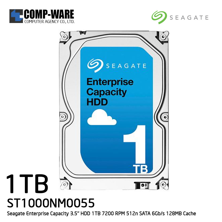 Seagate Enterprise Capacity 3.5'' HDD 1TB 7200RPM SATA 6Gb/s 128MB Cache Internal Hard Drive ST1000NM0055