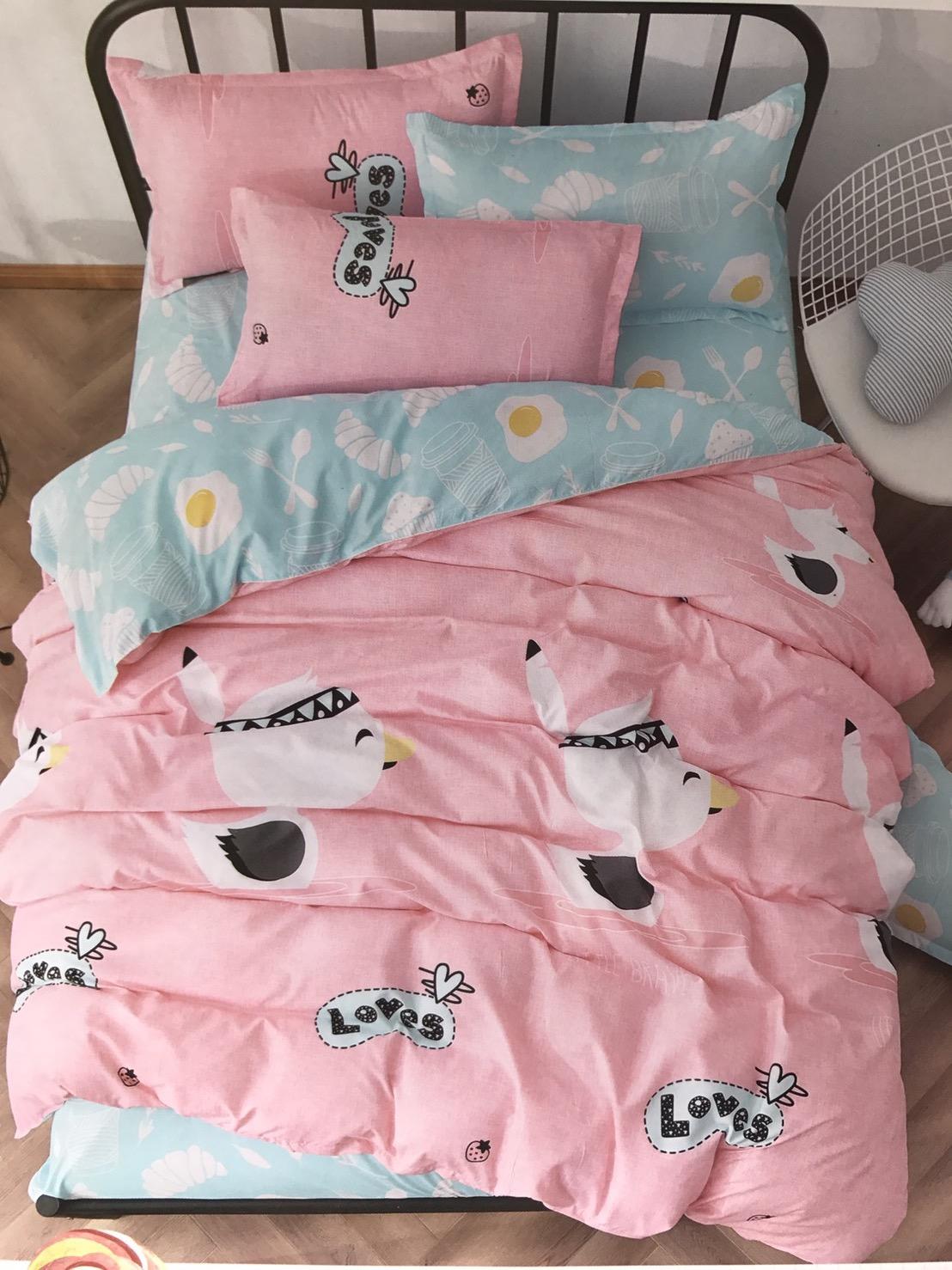 ชุดผ้าปูที่นอนลายสัตว์น่ารัก ขนาด 6 ฟุต, 5 ฟุต, 3.5 ฟุต