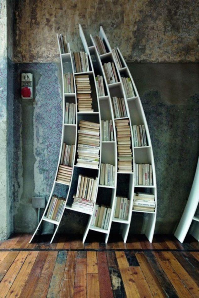 ชั้นวางหนังสือสไตล์โมเดิร์น 11