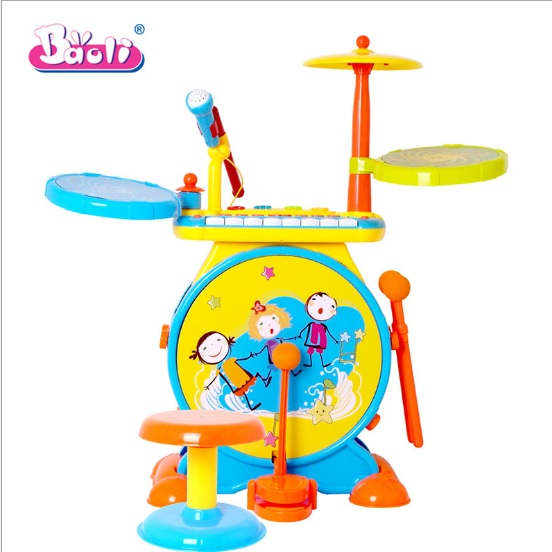 กลองเด็ก Baoli 2 in 1 multifunction ****พร้อมส่งสีฟ้า และ ชมพู****ส่งฟรี