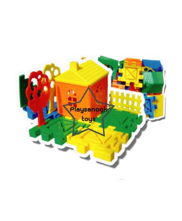 TY-1043 ตัวต่อพลาสติกสร้างบ้านและสวน