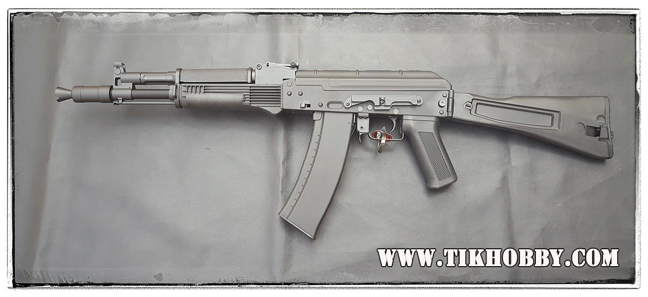 ปืนอัดลม ระบบไฟฟ้า AK CM047C บอดี้เหล็ก พานท้ายพับข้าง จาก Cyma