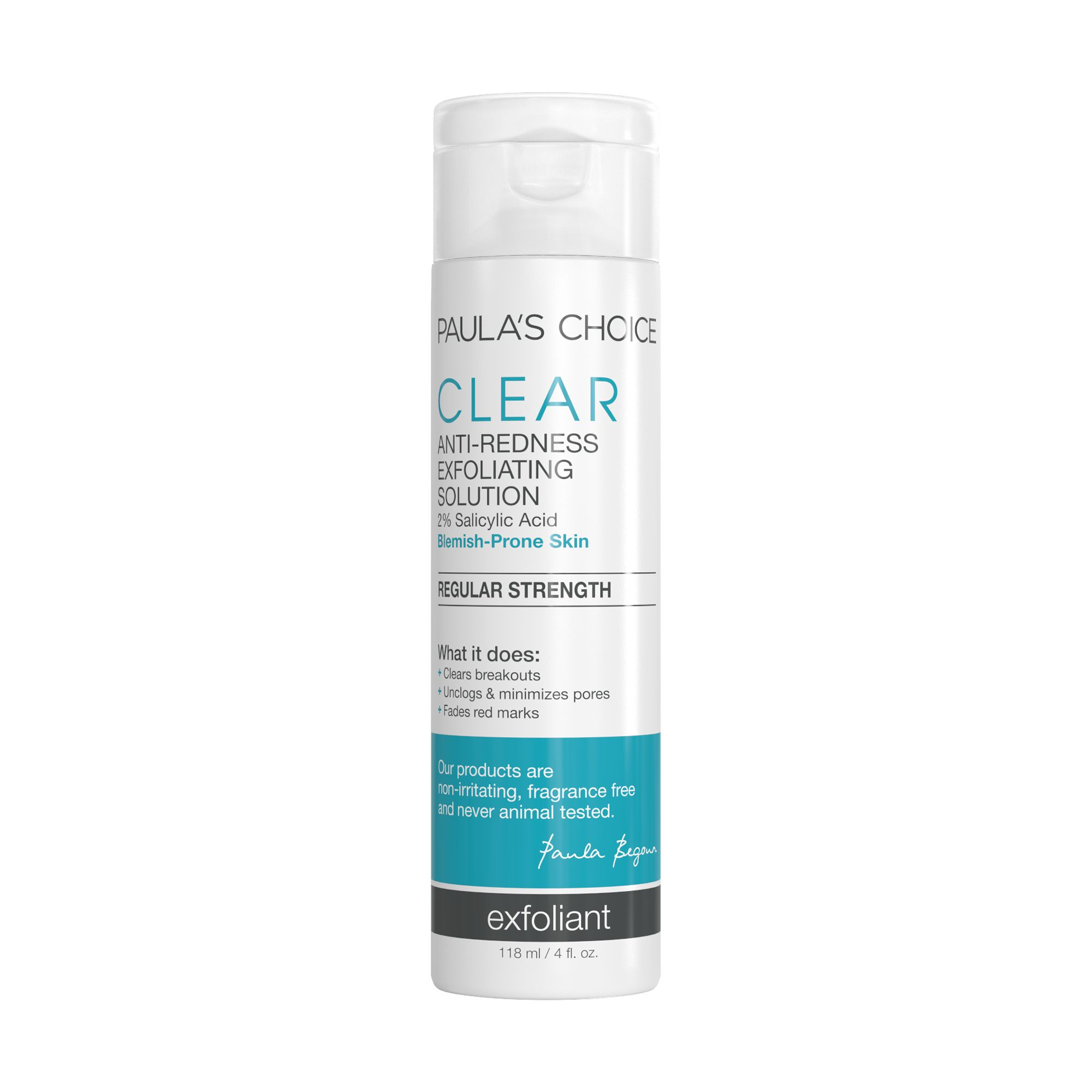 [ลด 20%] Paula's Choice : CLEAR Regular Strength Anti-Redness Exfoliating Solution With 2% Salicylic Acid 118ml