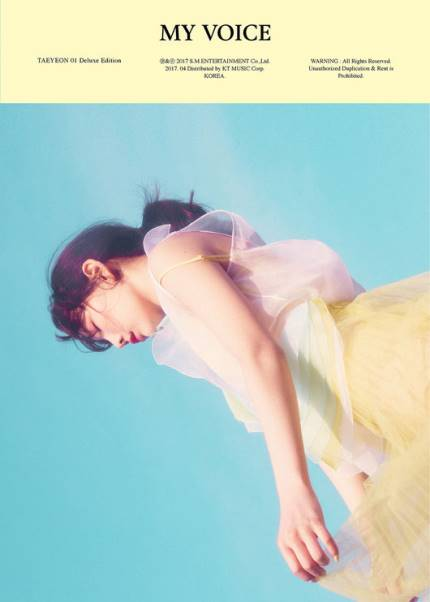 Tae Yeon แทยอน - Album Vol.1 [My Voice] (Deluxe Edition) หน้าปก sky ver สีเหลือง