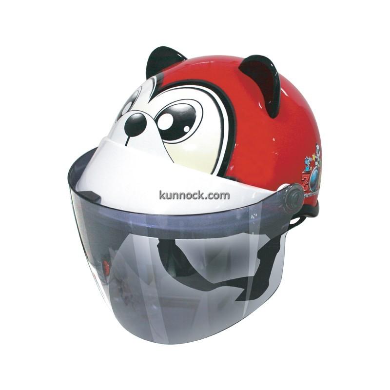 หมวกกันน็อคเด็ก INDEX รุ่นซูว์ หมีแดง : Zoo Bear-Red