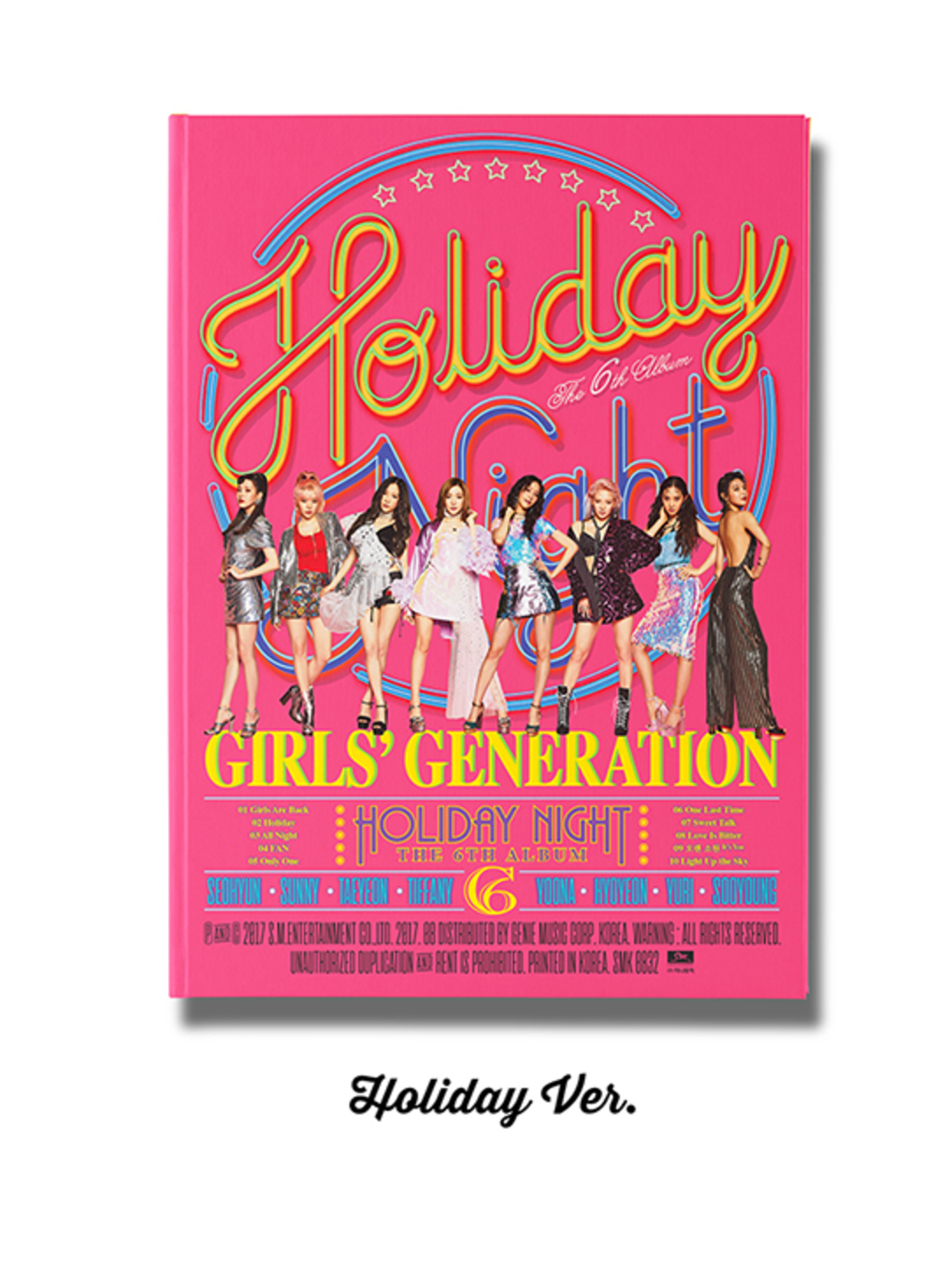 Girls' Generation : 6th Album - Holiday Night หน้าปก Holiday ver