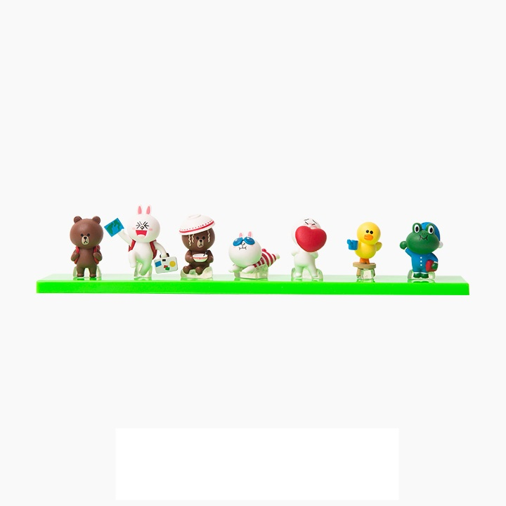 [Preorder] โมเดลตุ๊กตา LINE 1 เซ็ท มี 7 แบบ (Version 6) Korean shopping with my line friends Brown can be 3 cm mini doll seven sets of hands to do