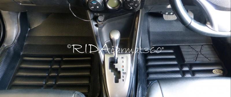 พรมปูพื้นรถยนต์ NEW YARIS 2013-17 สีดำ BY RIDA CAMAT 360