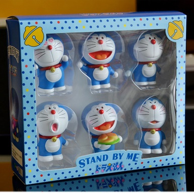 [Preorder] โมเดล Doraemon 1 เซ็ทมี 6 แบบ (Version 3) A Dream car Decoration doll Zodiac robot cat cartoon car accessories Tanabata Valentine's Day gift