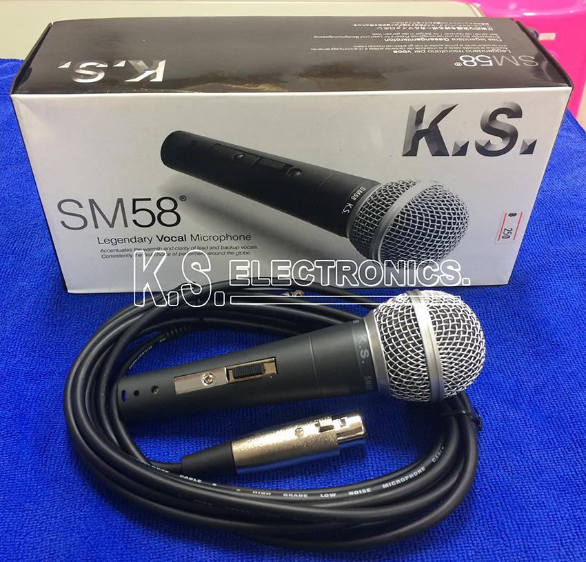 ไมค์สาย K.S. รุ่น SM58