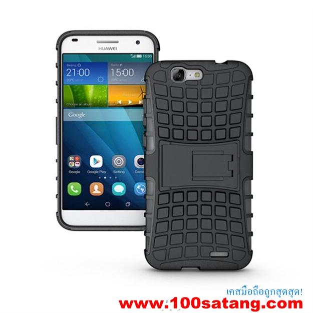 (002-073)เคสมือถือ Case Huawei Ascend G7 เคสพลาสติกกันกระแทกรุ่นขอบสี