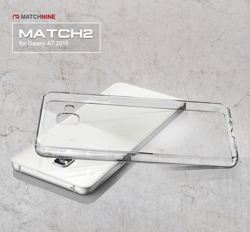 MatchNine : Match2 Dot Clear Case Cover For Galaxy A7 (2016)