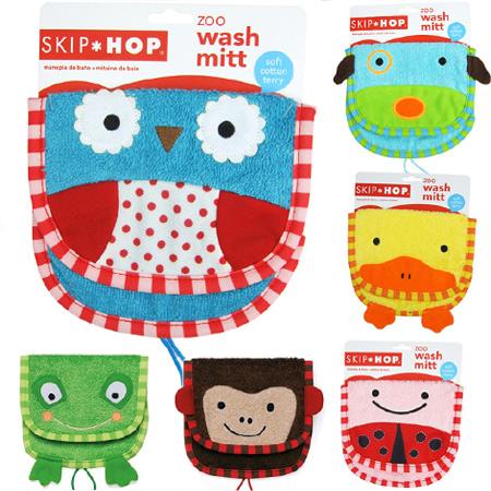 ST-SK006 ถุงมืออาบน้ำ Skip Hop ZOO Wash Mitt