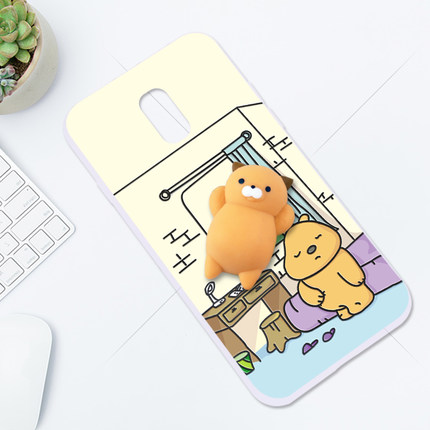 (616-002)เคสมือถือซัมซุง Case Samsung J7+/Plus/C8 เคสตัวนุ่มนิ่ม บี้ๆน่ารักๆ Trending Squishy 3D Destress
