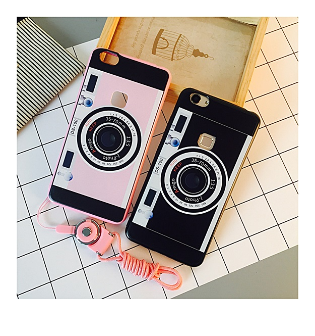 (178-003)เคสมือถือวีโว Vivo X6 เคสอะคริลิคลายกล้องถ่ายรูปพร้อมสายห้อย