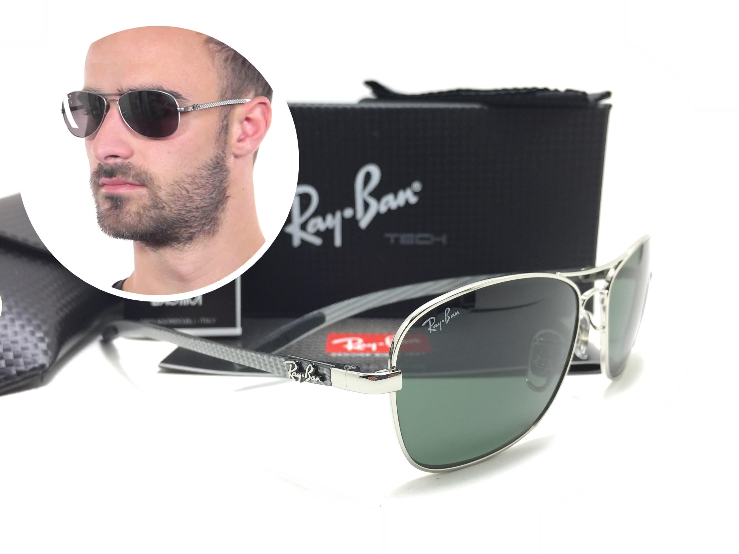 แว่นกันแดด RB 8302 Tech Carbon Fibre 003 59-14 3N <เงิน>