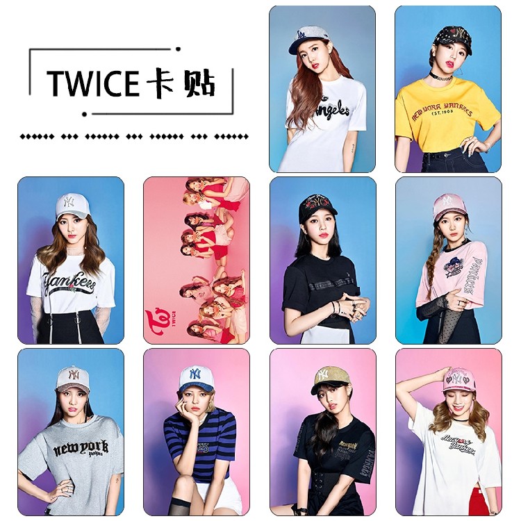 Sticket Card set TWICE #twice (A) 10pc