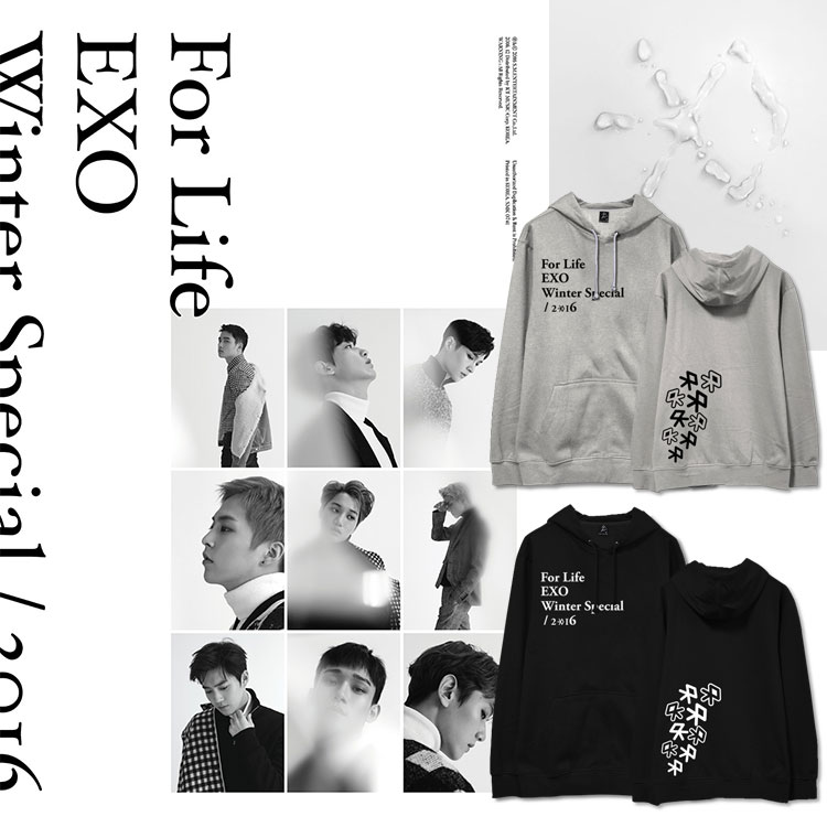 Hoodie EXO Winter For Life -ระบุสี/ไซต์-