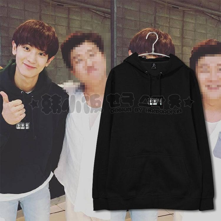 Hoodie 87MM BLACK Sty.Chanyeol -ระบุสี/ไซต์-