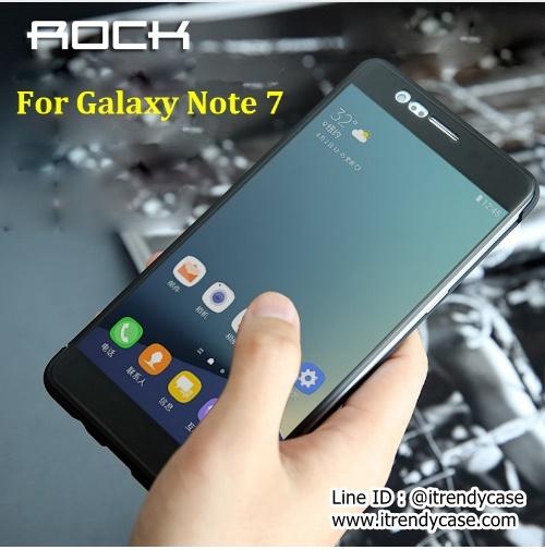 Samsung Note7 / Note FE - ROCK DR.V เคสฝาพับ สไลด์รับสายได้ แท้