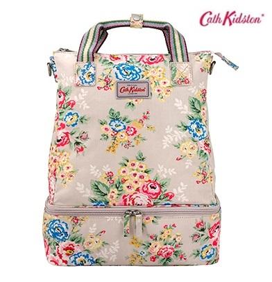 *Pre Order*Cath Kidston-UK original summer new handbag backpack-ผ้าใบพิมพ์ลายสไตล์ยุโรป size 40x28x13 cm.
