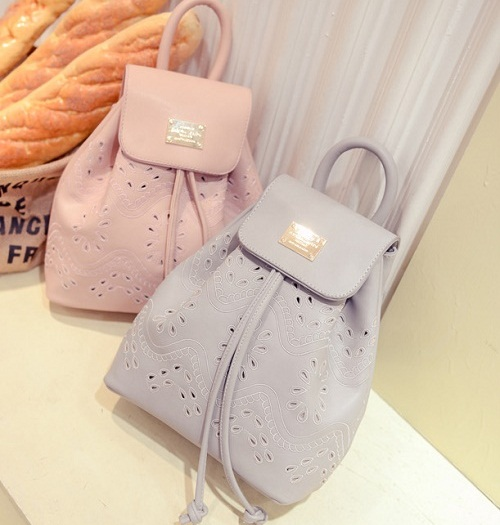 *Pre Order*Korean girl fashion กระเป๋าเป้หนังเทียม ขนาด 27x23x10 cm.