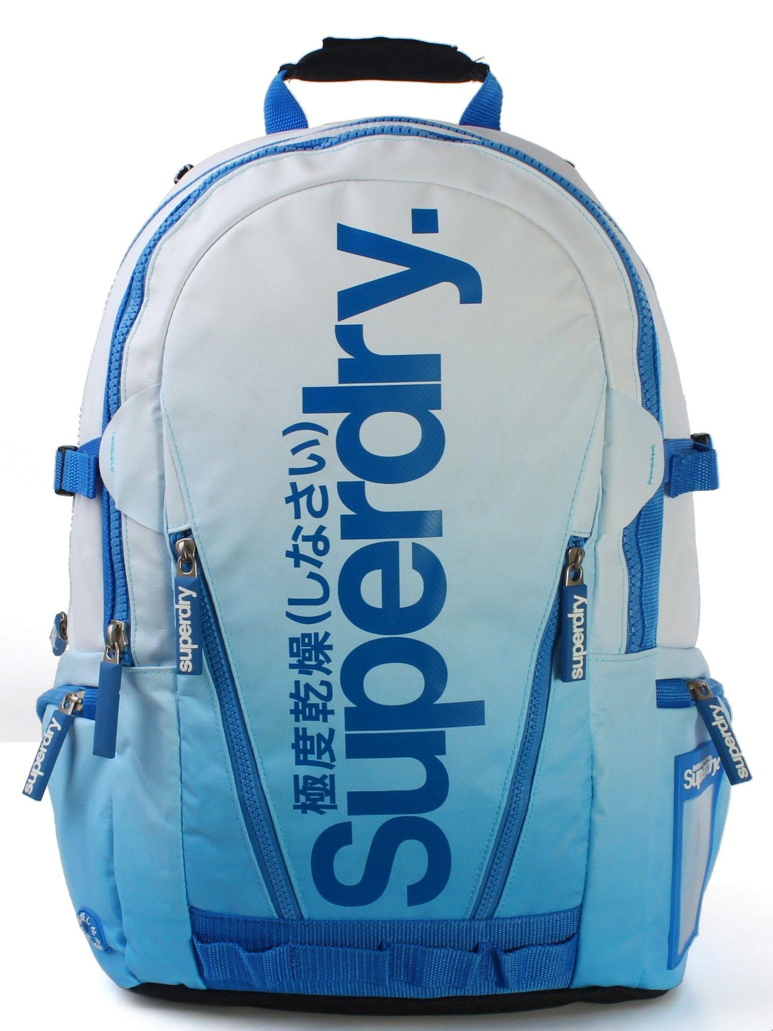 Superdry - Dip Tarp Backpack สีฟ้า (Dip Blue)