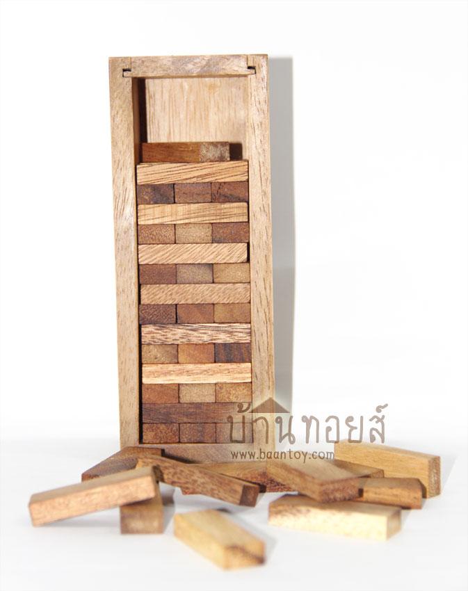 บล็อคไม้จังก้า เกมส์จังก้าไม้ เกมตึกถล่ม เล่นได้หลายคน ผลัดกันดึงชิ้นไม้ออกทีละชิ้น ใครทำตึกล้มแพ้!!
