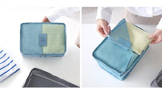 กระเป๋าผ้า ตาข่าย (Size S) จัดระเบียบกระเป๋าเดินทางท่องเที่ยว