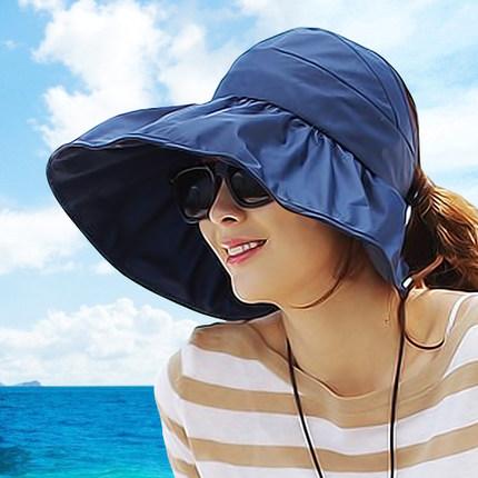 Pre-order หมวกแฟชั่น หมวกใบกว้าง หมวกฤดูร้อน กันแดด ผ้าโพลีเอสเตอร์ สีกรมท่า