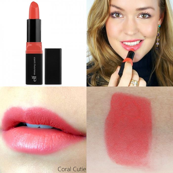 **พร้อมส่ง+ลด 70%**E.L.F. Moisturizing Lipstick สี Coral Cutie รหัส 82634