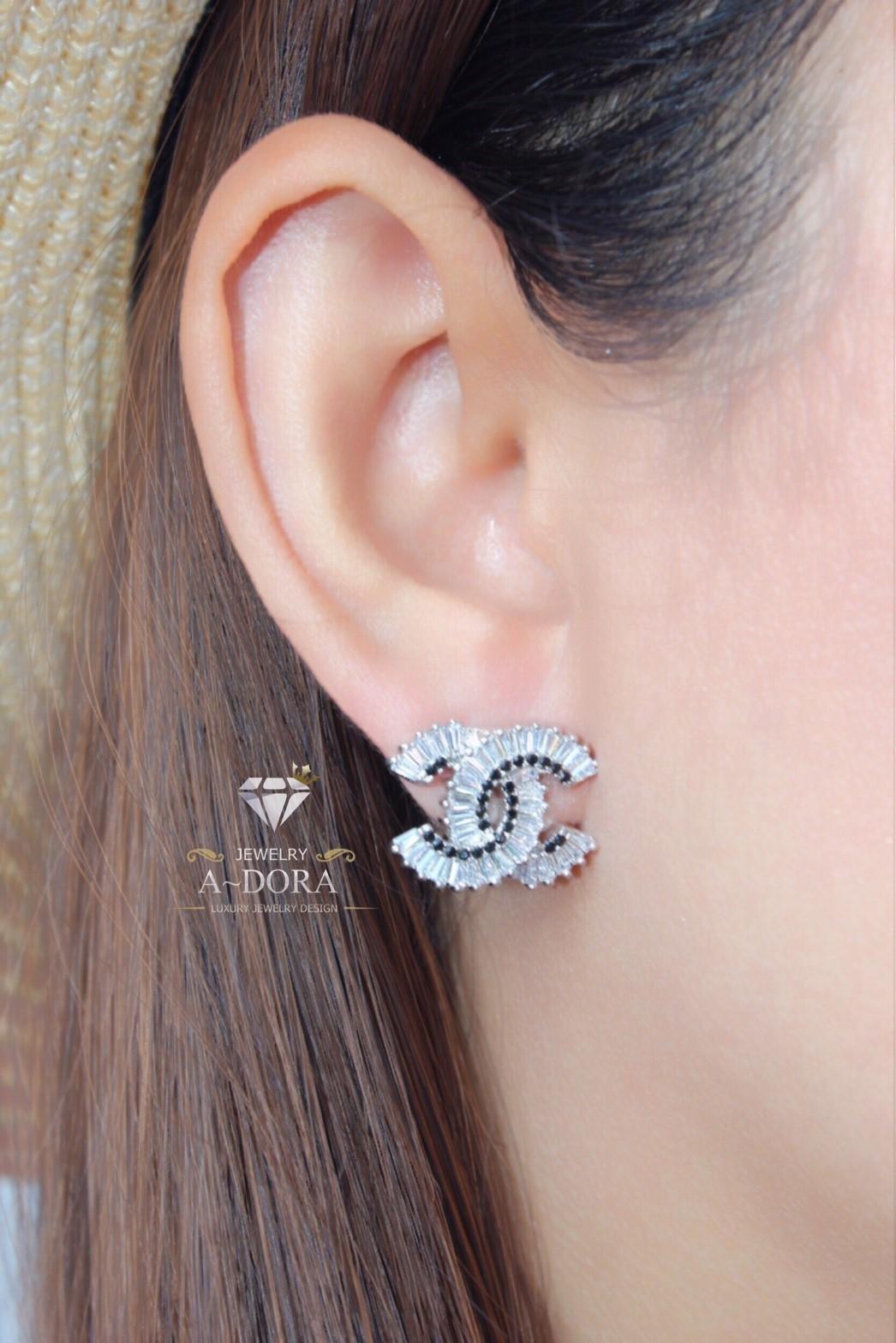 พร้อมส่ง ~ Chanel Earring งานเพชรซีกงานเกรดพรีเมี่ยมสวยมากค่ะ