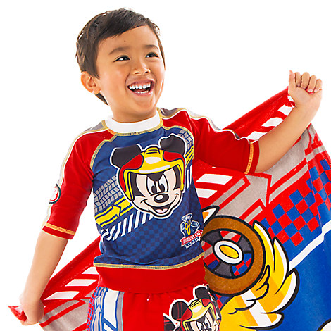Mickey Mouse Rash Guard for Boys - Mickey and the Roadster Racers from Disney USA ของแท้100% นำเข้า จากอเมริกา