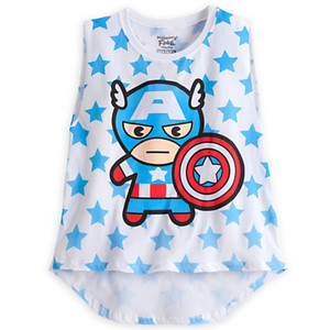 z Captain America Tank Tee for Women by mighty fine Size M