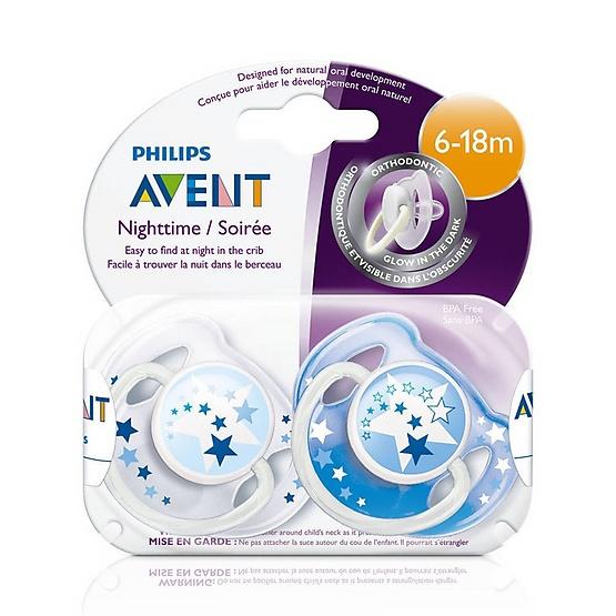 AVENT เอเวนท์ จุกหลอก แพ็คคู่ BPA Free