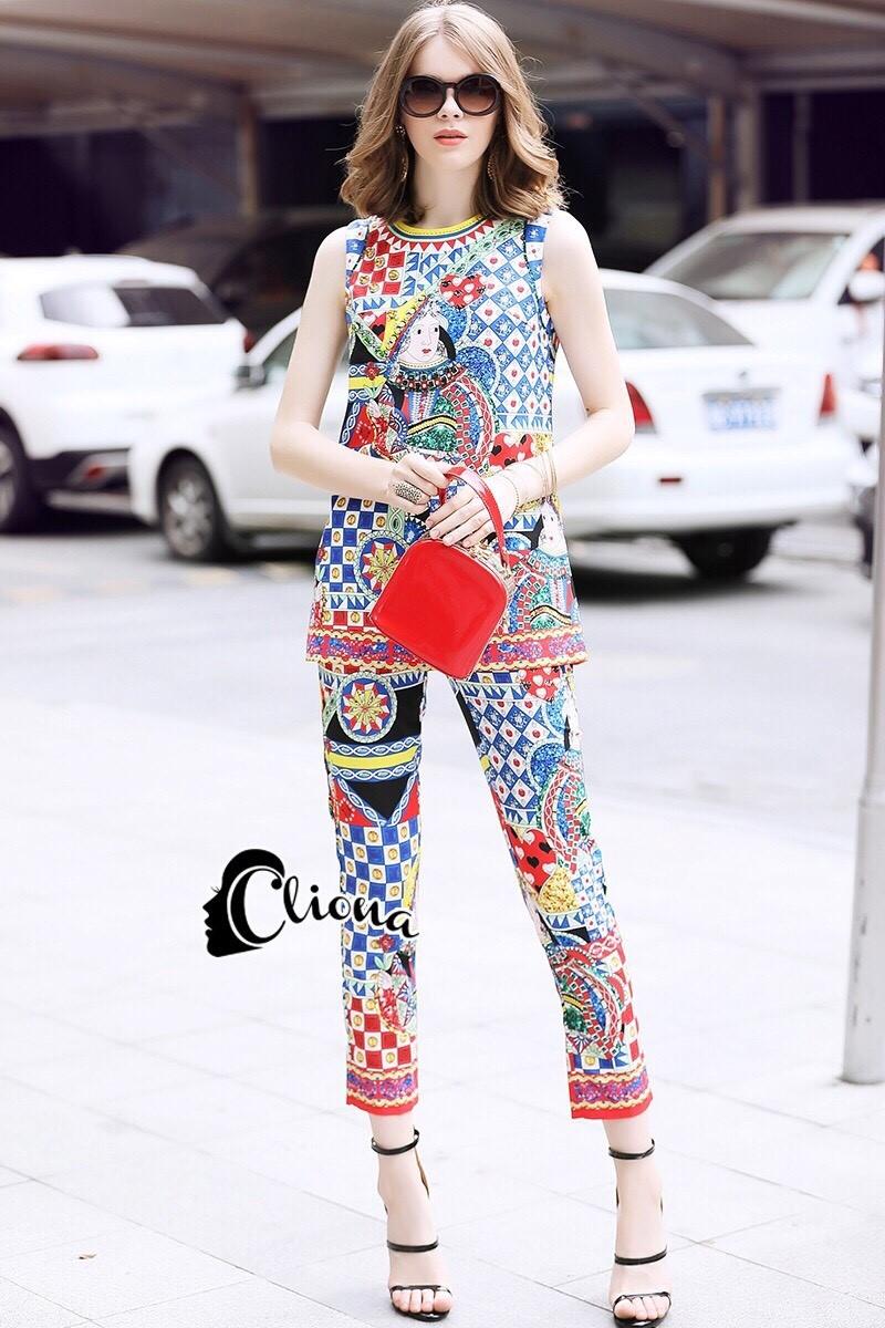 ชุดเซทแฟชั่น เสื้อ+กางเกง ดีเทลชุด Set งานแบรนด์ สวยหรูดูแพงมากค่ะ
