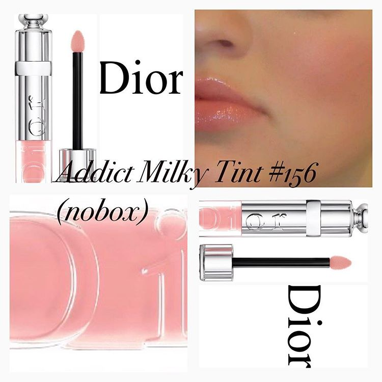** พร้อมส่ง + ลด 30 %** Dior Addict Milky Tint Nourishing Lip Fluid Wet Effect 156 milky pastel (tester 5.5 มิล ไม่มีกล่อง)