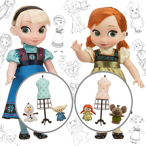 z Disney Animators' Collection Anna and Elsa Dolls Deluxe Gift Set - 16''