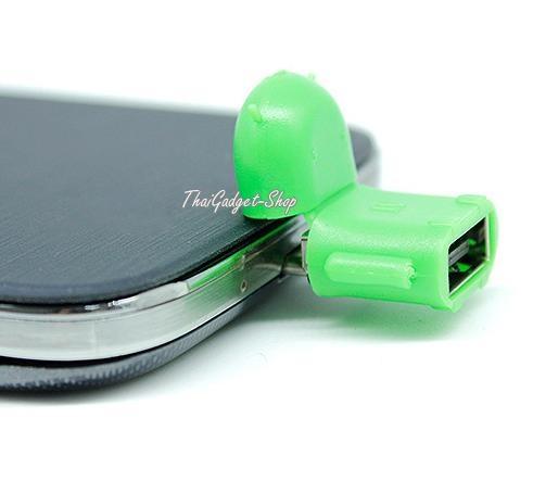 (พร้อมส่ง) Micro USB to USB OTG USB Adapter ทรงหุ่นยนต์