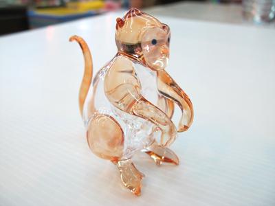 ลิงแก้วเป่า Glass Figurine Monkey
