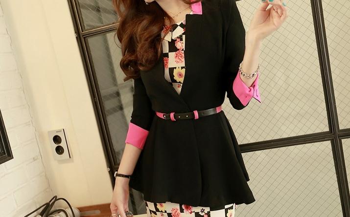 Pre Order - เสื้อคลุมสูทแฟชั่นเกาหลี แขนห้าส่วน เป็นสาวทำงานมากค่ะ