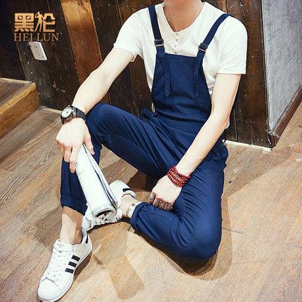 ชุดเอี้ยมขายาวเกาหลี overalls ทรงSlim ดีไซสเท่ มี2สี