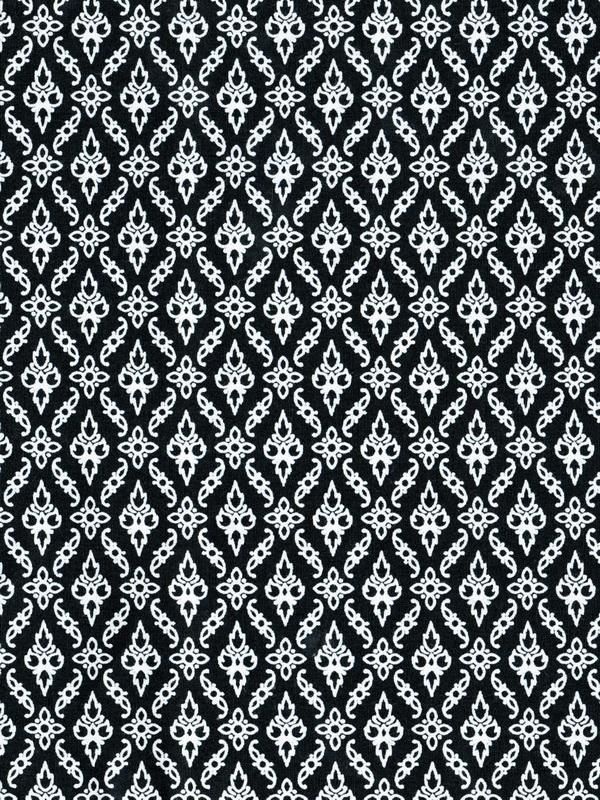 ผ้าลายไทย LT0040_bw ขาวดำ