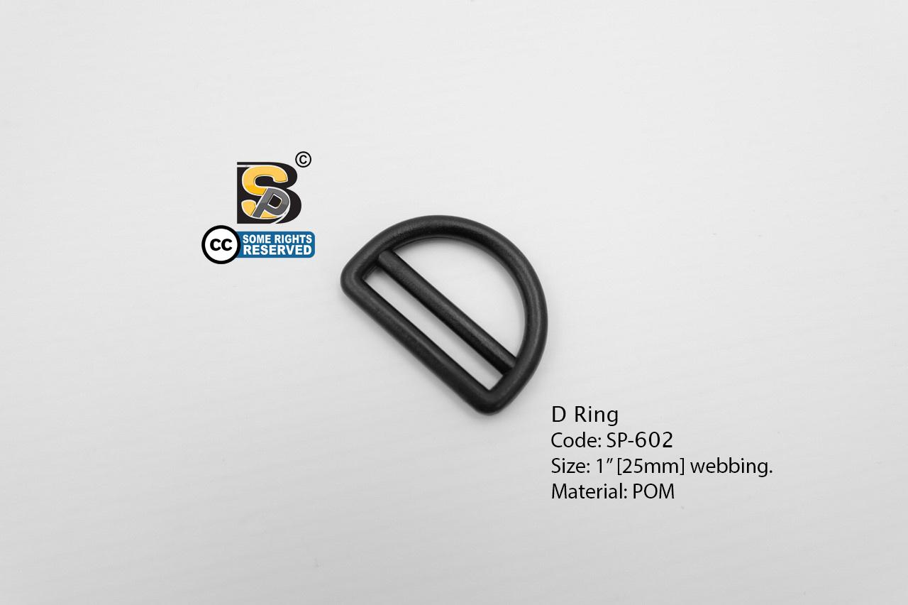 """ห่วงตัวดี 1"""" มีช่อง (แข็ง)/ D-Ring 1"""""""